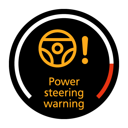 Power steering warning