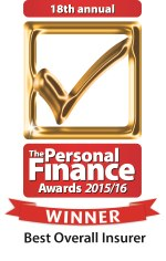 The Personal Finance Awards 2015/16 Winner - Best All Round Insurer