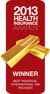 2013 Health Insurance Awards - Winner - Best individual international PMI provider
