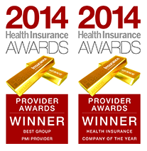 Winner of Health Insurance Company of the Year and Best Group PMI Provider for 2010, 2011, 2012, 2013 & 2014