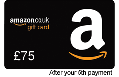 £75 Amazon gift card after 5th monthly payment