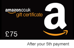 £75 Amazon gift certificate after 5th monthly payment
